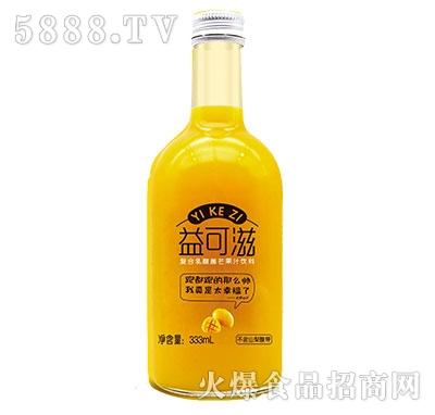 益可滋玻璃瓶发酵复合乳酸菌芒果汁333ml