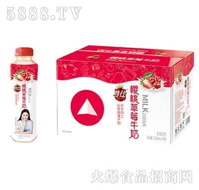 尊仕樱桃草莓牛奶500mlx15瓶产品图