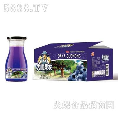 团友大咖果农蓝莓汁饮料330mlX20