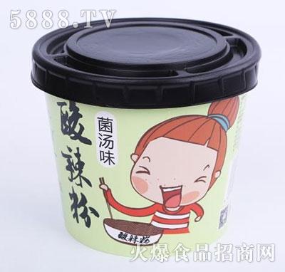 华夏九月天酸辣粉菌汤味桶