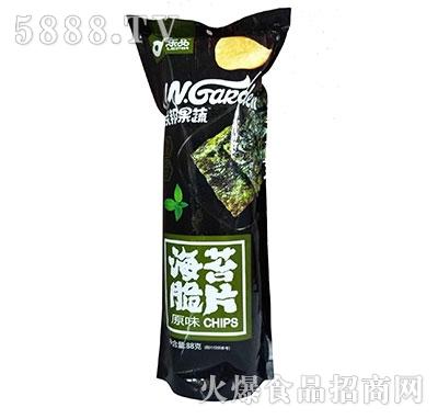 乐品联邦果蔬海苔脆片原味88g