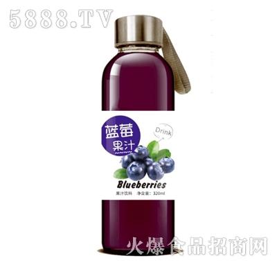 蓝莓果汁饮料320ml玻璃瓶