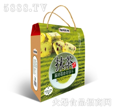 福�魅f家抹茶蔓越莓曲奇�干1.18kg�Y盒�b