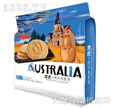 盛天红澳式高纤燕麦饼320g