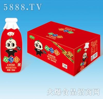鹤园欢乐豆红枣豆奶瓶装350ml