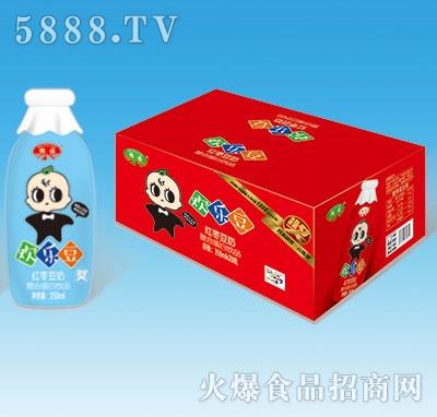 鹤园欢乐豆红枣豆奶蛋白饮品瓶装350ml