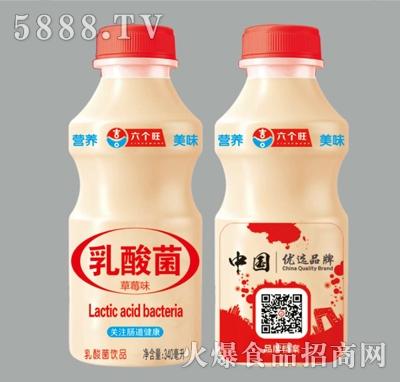 六个旺草莓味乳酸菌饮品340ml产品图