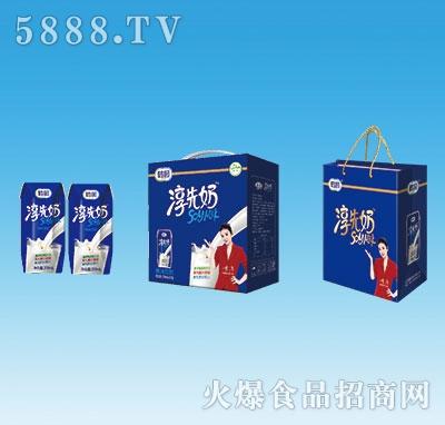 鹤园淳先奶原味豆奶200mlx12盒