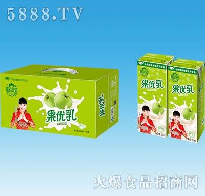 鹤园果优乳果味饮料手提250mlx20盒
