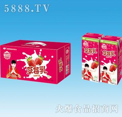 鹤园草莓乳果味饮料250mlx20盒