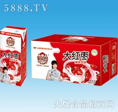 鹤园大红枣果味饮品250mlx24盒