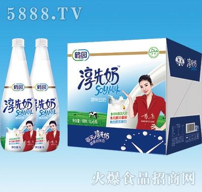 鹤园淳先奶原味豆奶1Lx6瓶