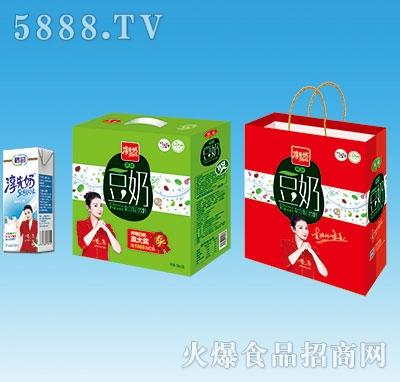 鹤园淳先奶原味豆奶250mlx12盒手提