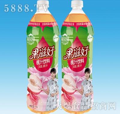 鹤园果滋好桃汁饮料1.5L