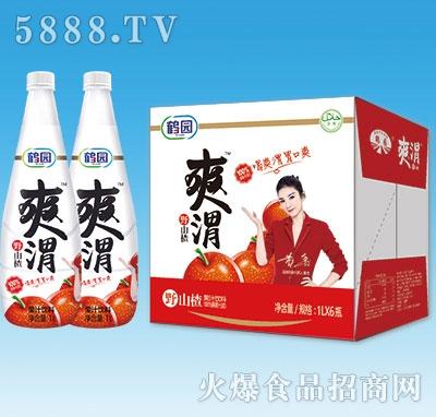 鹤园爽渭野山楂汁饮料1Lx6瓶