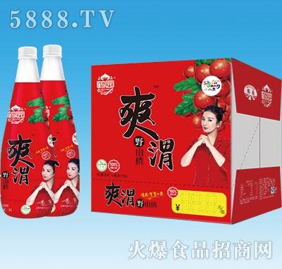 鹤园爽渭野山楂汁1Lx6瓶