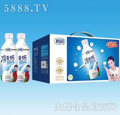 鹤园淳先奶原味豆奶350mlx12瓶