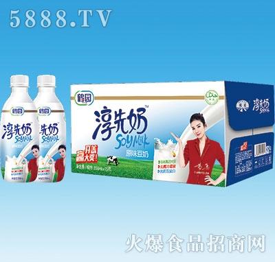 鹤园淳先奶原味豆奶350mlx15瓶