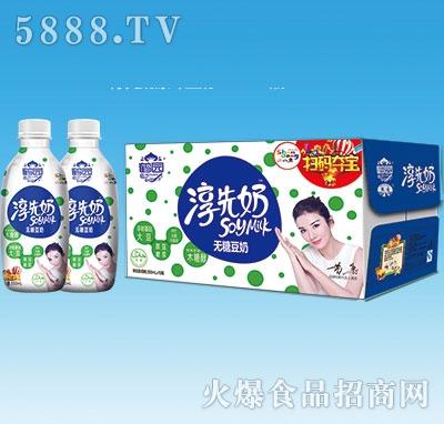 鹤园淳先奶无糖豆奶350mlx15瓶