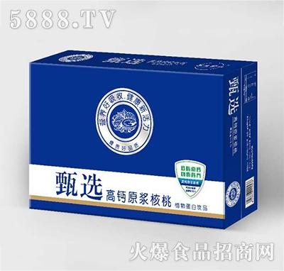 甄选高钙原浆核桃植物蛋白饮品箱装产品图