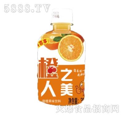 橙人之美甜橙果味饮料350ml瓶装