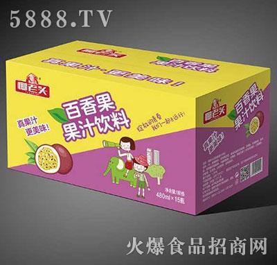 椰老头百香果果汁饮料480mlx15瓶