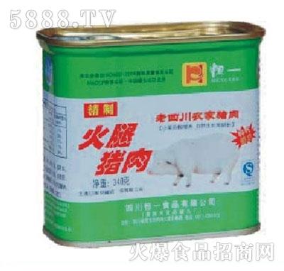 恒一牌340克火腿猪肉产品图