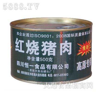 恒一牌500克高原专用红烧猪肉产品图