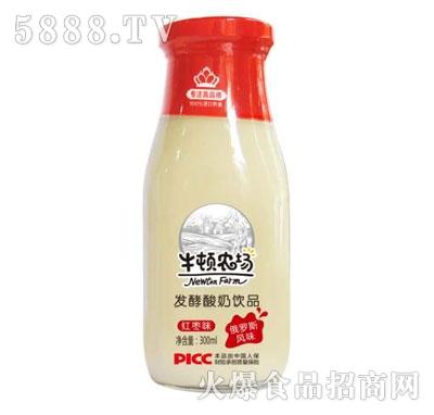 牛顿农场发酵酸奶饮品红枣味(瓶)