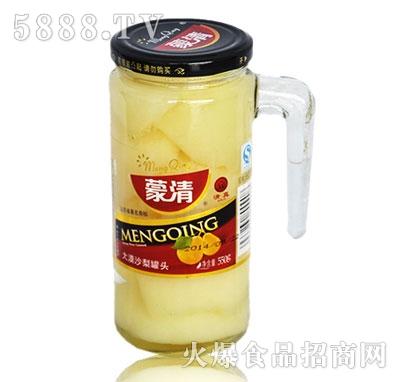 蒙清沙梨罐头550g