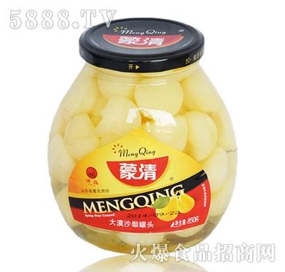 蒙清沙梨罐头850g