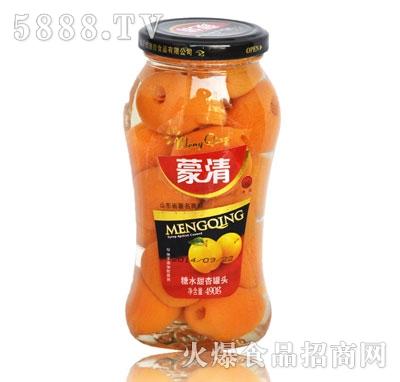 蒙清甜杏罐头490g