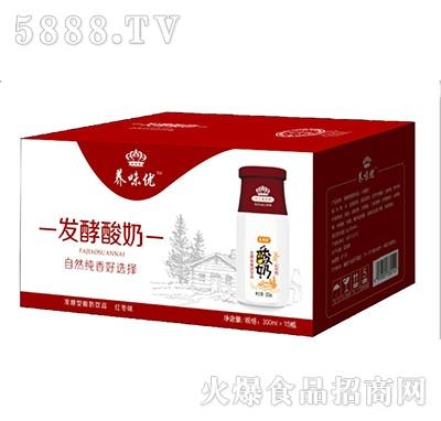 养味优发酵型酸奶红枣味300mlx15瓶产品图