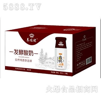 养味优发酵型酸奶炭烧味300mlx15瓶产品图