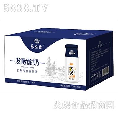 养味优发酵型酸奶原味300mlx15瓶产品图