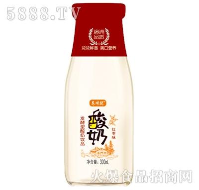 养味优发酵型酸奶饮品红枣味300ml产品图
