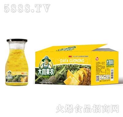 大咖果农菠萝果肉果汁饮料(箱)