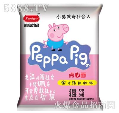 熊毅武食品蜜汁猪排风味点心面52g产品图