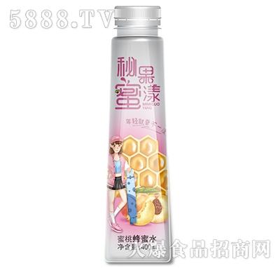 汉水绿梦蜜桃蜂蜜水400ml瓶