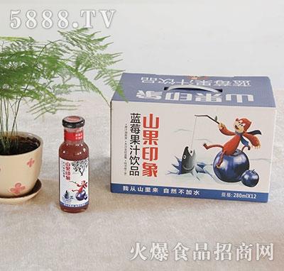 山果印象蓝莓汁饮料280mlx12瓶