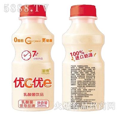 潼博优c优e乳酸菌饮品340ml