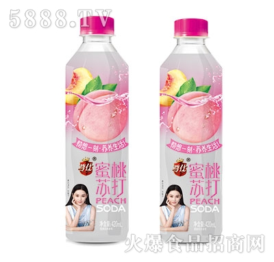 尊仕蜜桃苏打水420ml产品图