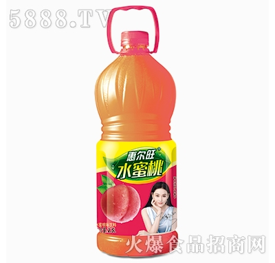 惠尔旺水蜜桃果味饮料2.5L