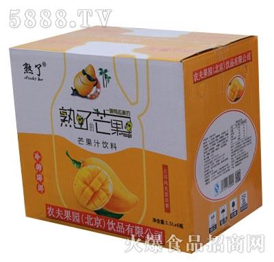 熟了芒果果汁1.5LX6