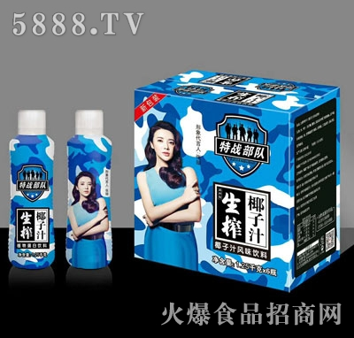 特战部队生榨椰子汁1.2kgX6