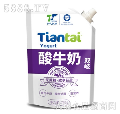 天太乳业双岐酸牛奶750g产品图