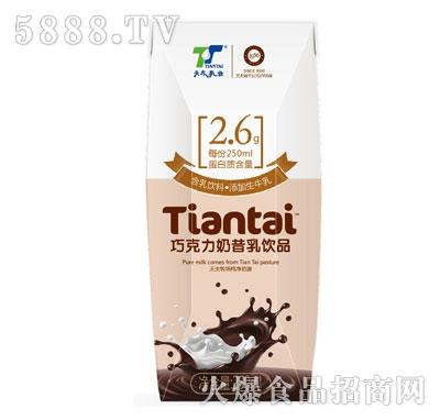 天太乳业巧克力奶昔乳饮品250ml产品图