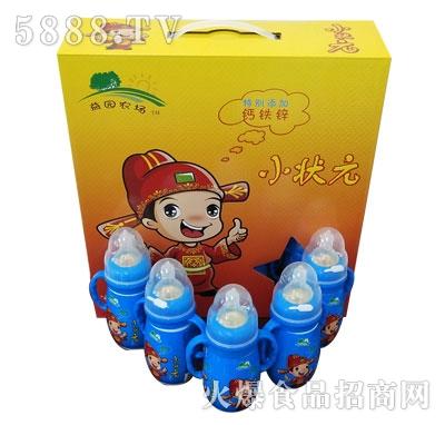 益园农场小状元蓝瓶儿童饮品箱装