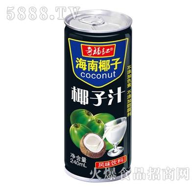 奇福记海南椰汁椰子汁风味饮料240ml