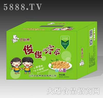 巴眯熊俊俊的零食QQ面绿箱